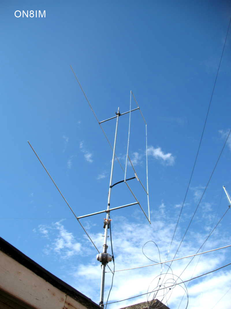 ON8IM hen antenna with reflector 002