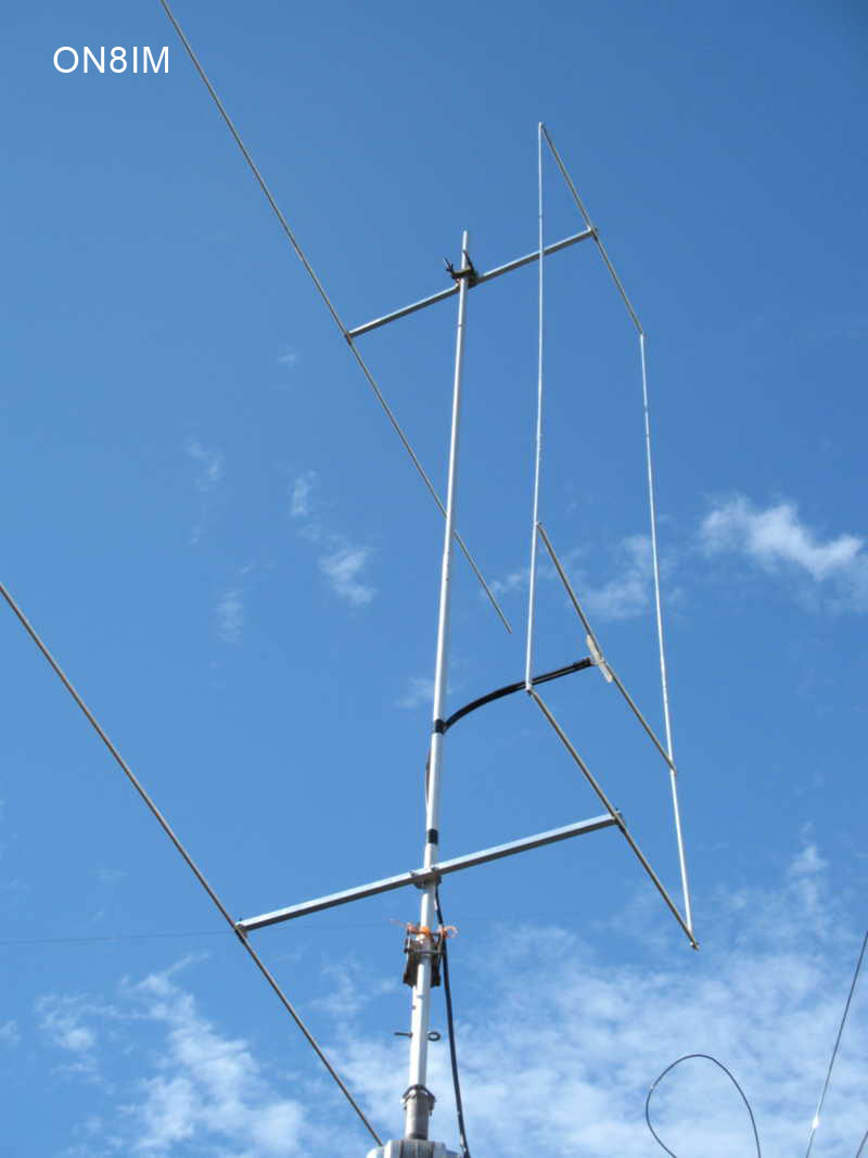 ON8IM hen antenna with reflector 003